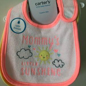 Carters baby girl bibs